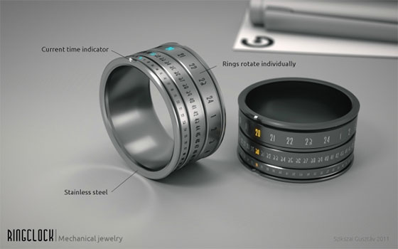 Ringclock-Details