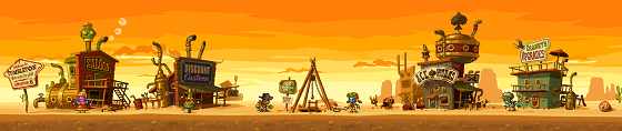 Steamworld dig dorp