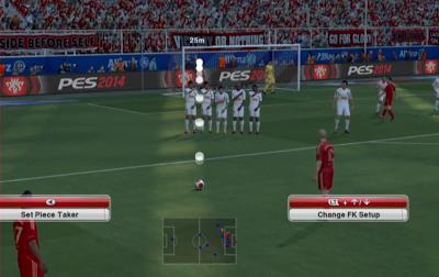 pes 2014 free kick system