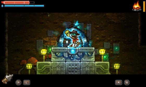 Steamworld Dig alien tech