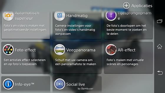 Sony Xperia Z1 Camera Opties