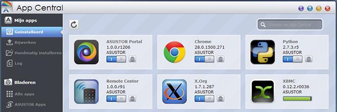 Asustor_AS-204TE Mediamodus Apps