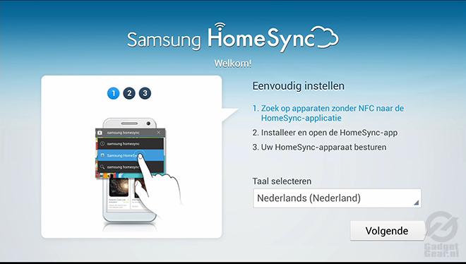 Samsung HomeSync Installatie