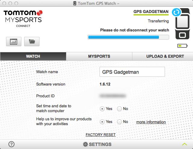 TomTom GPS Watch -