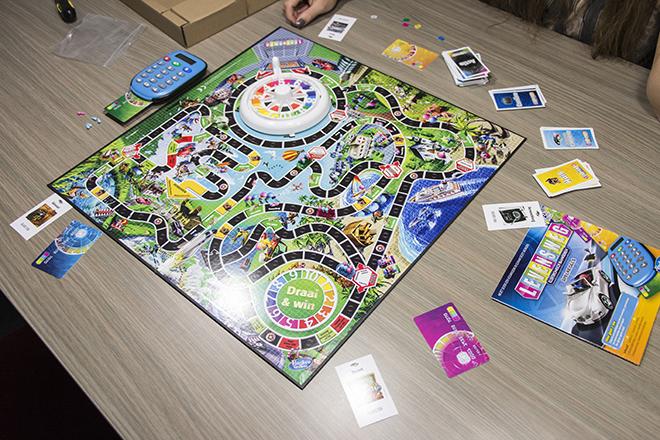 Hasbro Levensweg Elektronisch Bankieren Speelbord