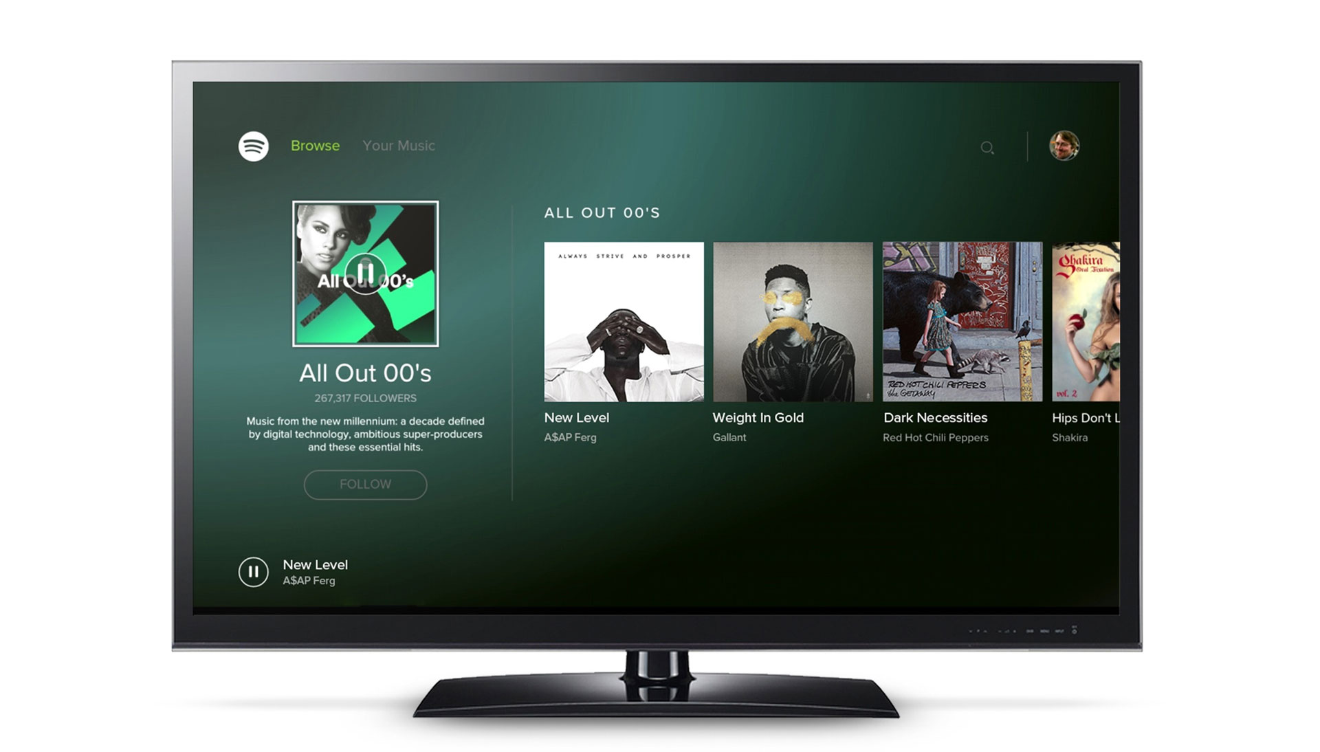 Spotify op Android TV