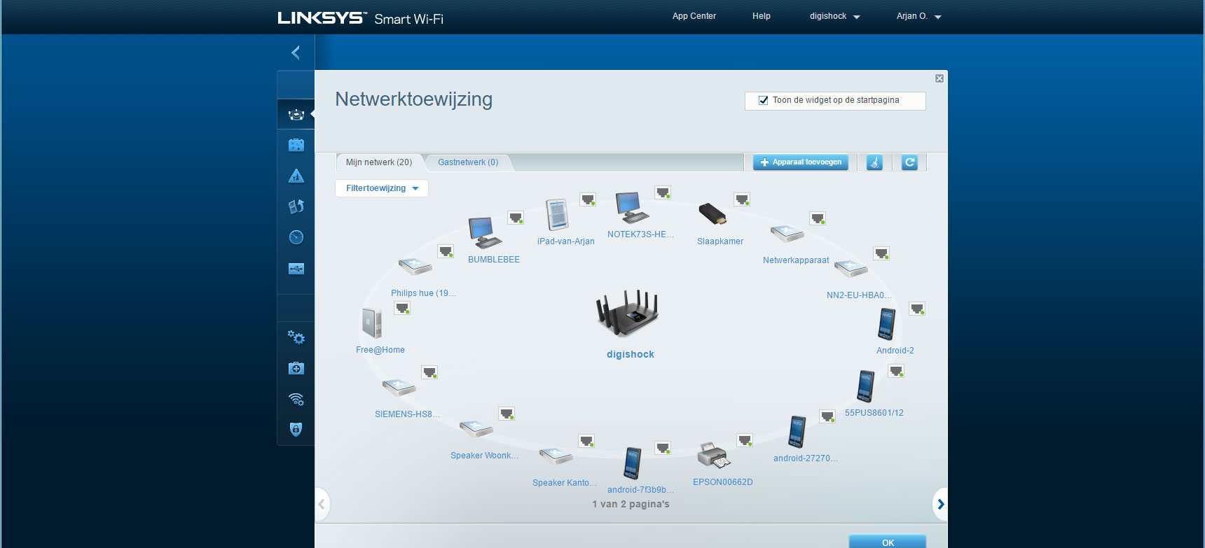 linksys-netwerktoewijzing