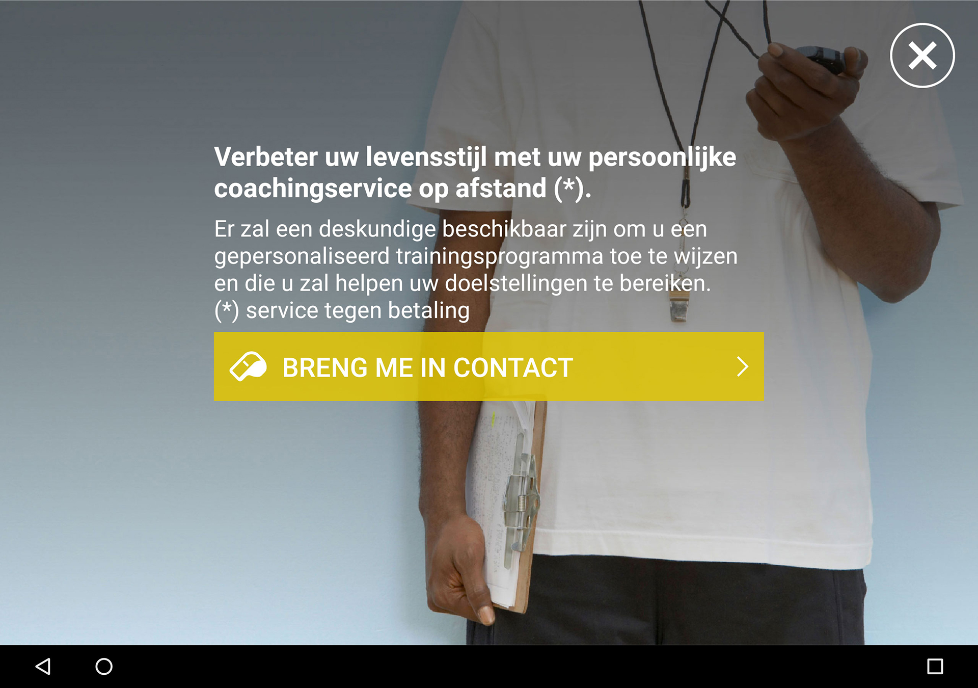 Technogym MyRun App Android Personal Trainer