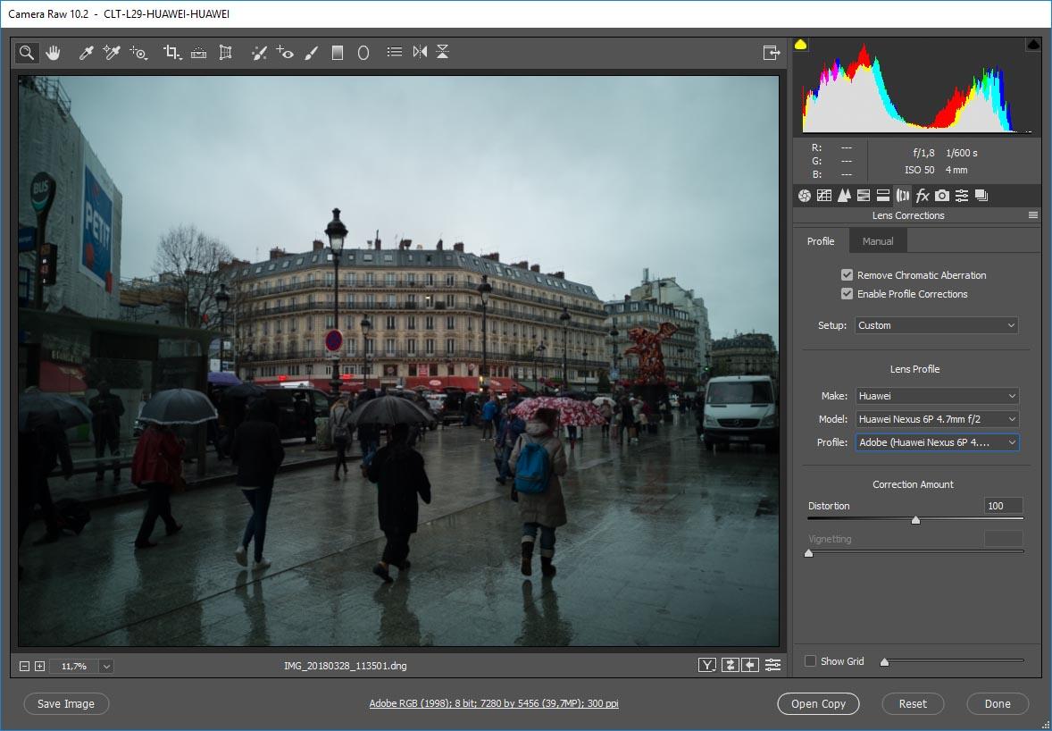 Adobe Camera RAW Huawei P20 Pro .dng