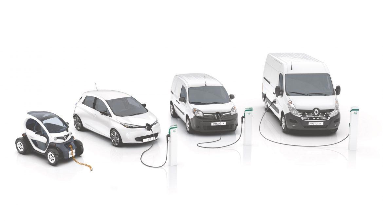 Diverse Elektrische auto's van Renault