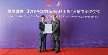 Huawei's Bruce Lee ontvangt het 5G CE-certificaat van TUV Rheinland