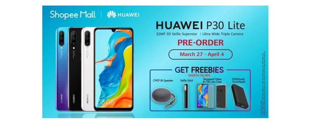 Huawei P30 Lite advertentie