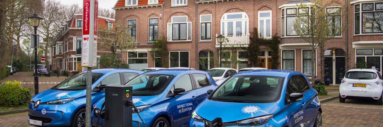 Renault auto's aan een bidirectionele lader