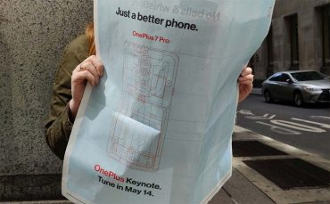 OnePlus advertentie in de New York Times