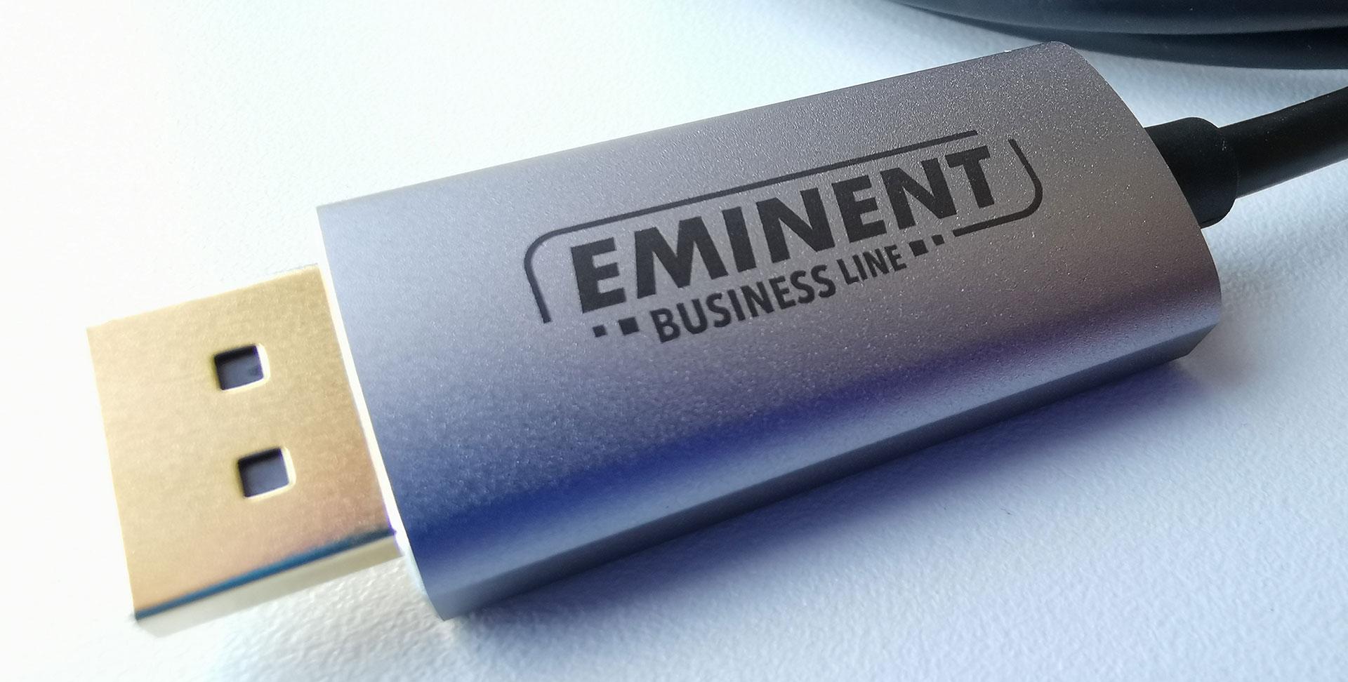 Eminent AB7875 USB-C to DisplayPort 4K Connection Cable DisplayPort Plug