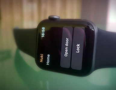 Nuki app op de Apple Watch