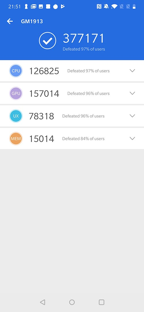 OnePlus 7 Pro AnTuTu Score
