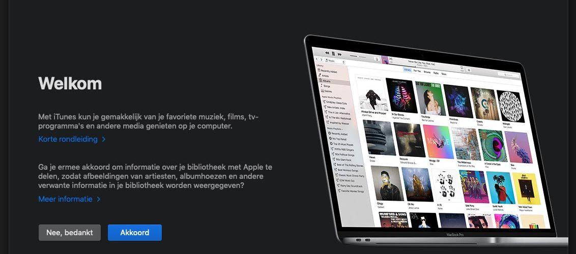 Apple iTunes Openingsscherm