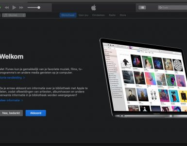 Apple iTunes Openingsscherm