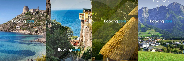 Booking.com advertenties op Huawei P30 Pro Lockscreen