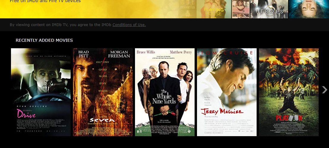 IMDb TV Website