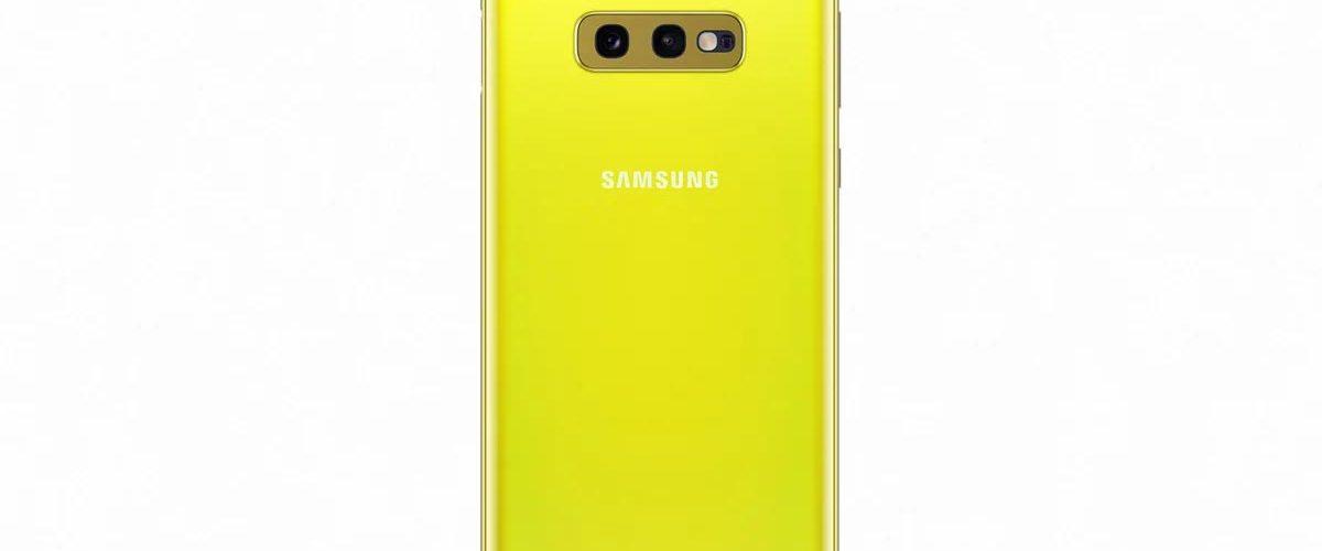 Samsung Galaxy S10 Canary Geel