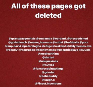 MEME Accounts op Instagram