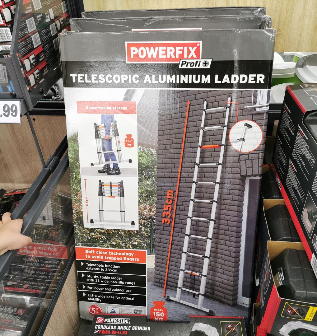 Lidl Powerfix Aluminium Telescoopladder
