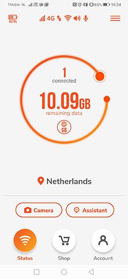 Screenshot Skyroam App