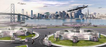 Vliegende auto concept van Hyundai