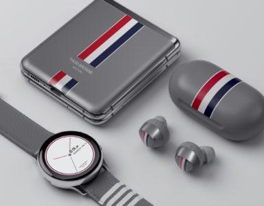 Samsung Galaxy Z Flip Thom Browne Edition met alle accessoires
