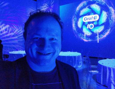 Arjan Olsder bij het Oral-B iO Event