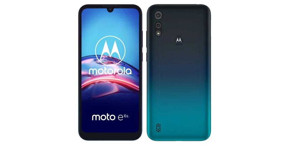 Motorola E6s voor- en achterkant