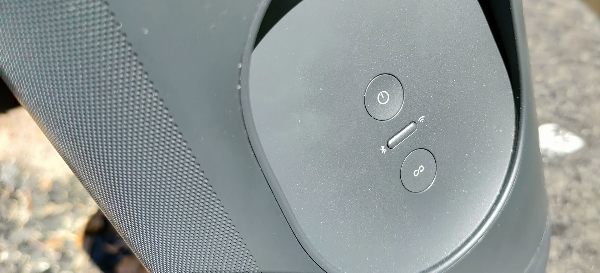 Sonos Move bedieningsknoppen achterop