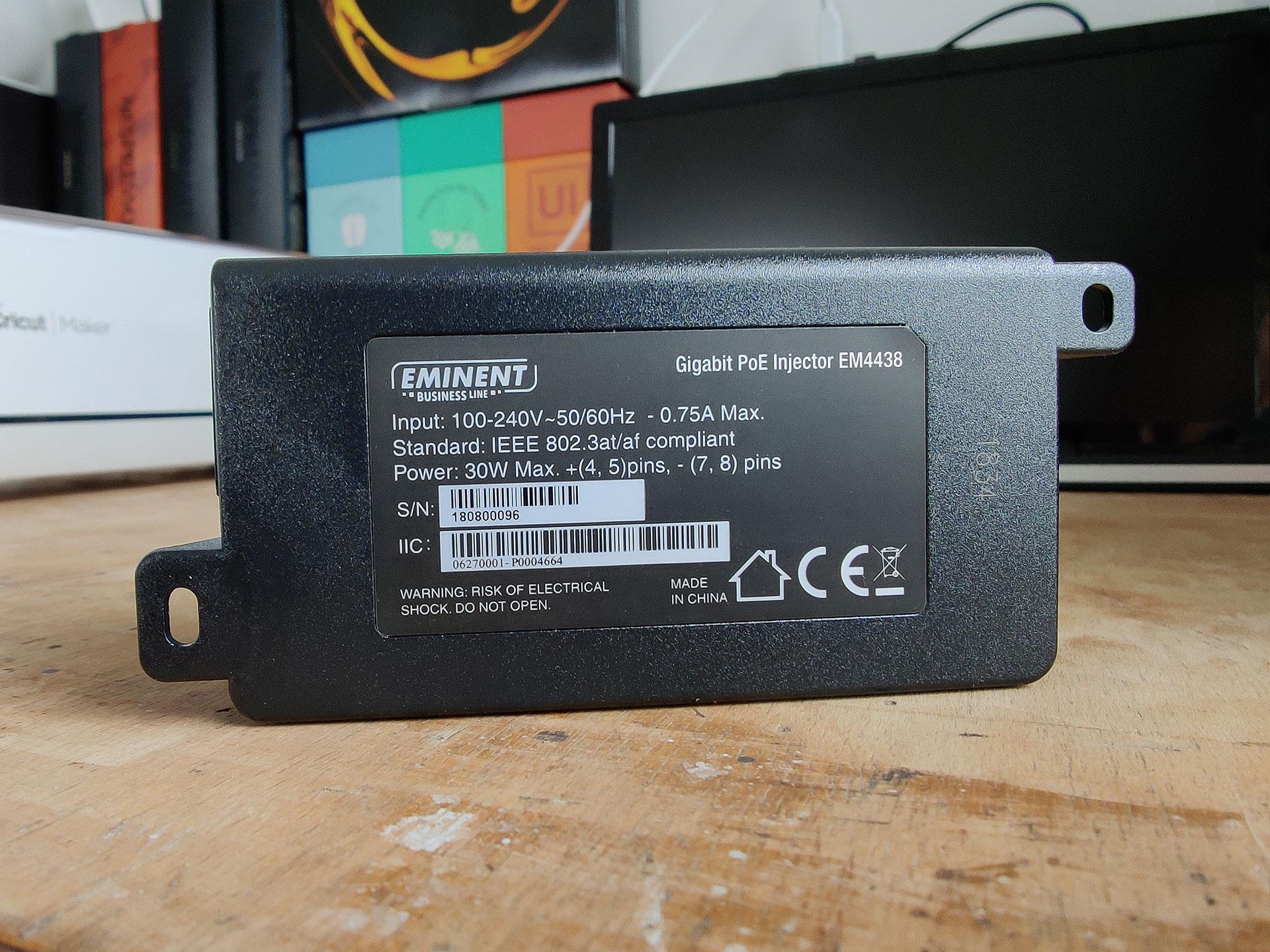 Eminent Business Line Gigabit PoE Injector schroefogen